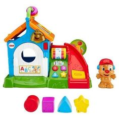 Fisher-Price Laugh & Learn Smart Stages Activity Playhouse Cat Activity Centre, Activity Cube, Activity Toys, Toddler Playhouse, Kids Indoor Playhouse, Toddler Toys, Buddy Holiday, Mailbox Accessories, Fisher Price Baby Toys