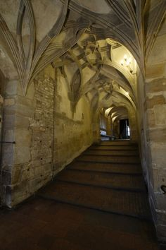 Prague Castle--Knights staircase where the knights entered the great hall without getting off their horses. - and the grand entrance of Diana and Matthew's performances as Endymion and Selene
