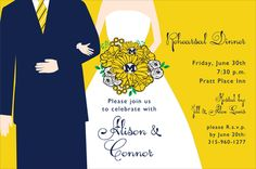 University of Michigan Newlywed Invitations