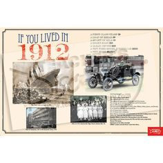 Give your students a glimpse into the happenings, cars, lifestyles, and trends that dominated America and the world 100 years ago. Have them compare their lives in 2012 to what they see on the poster. A great activity and discussion starter! ©2011, 24 x 36 inches, laminated, middle school/high school.
