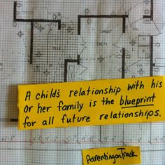 A child's relationship with his or her family is the blueprint for all future relationships. - Vicki Hoefle #parenting #relationships #love