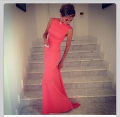Beautiful Coral Evening dress