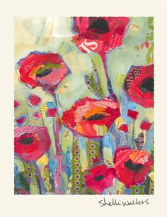 Flower Greeting Cards por ShelliWalters en Etsy