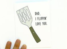 Fathers Day Card  I Flippin' Love You by GeorgiePearlDesigns, $4.00