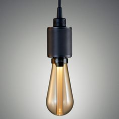 Buster bulb in the Gold glass shade