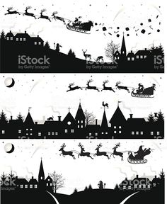 Christmas silhouettes. royalty-free stock vector art