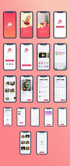 Home Kitchen is a food ordering and delivery iOS app UI kit compatible with Adobe XD. Ios App Design, Mobile Ui Design, Interface Design, Interface Web, Android App Design, Iphone App Design, Android Art, Android Watch, Whatsapp Theme