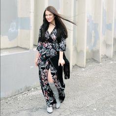 Aakaa Floral Wrap Maxi Dress Size M Aakaa Floral Wrap Maxi Dress Size M -brand new without tags! Stunning! Aakaa Dresses Maxi