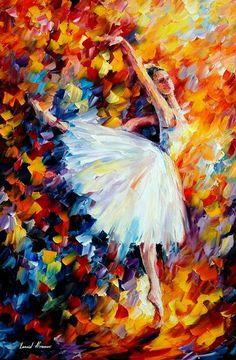 """Magic"" by Leonid Afremov - Ballet, балет, Ballett, Bailarina, Ballerina, Балерина, Ballarina, Dancer, Dance, Danse, Danza, Танцуйте, Dancing"