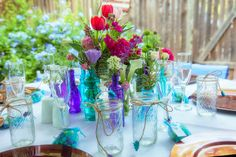 beautiful decor for simple intimate wedding in the back yard