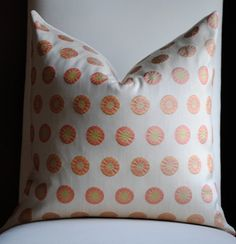 Polka Dot Decorative Pillow Cover-20x20-SILK -Accent   Coordinates with Schumacher dragon