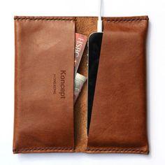 iPhone SE, 6, 6 Plus Bifold Wallet - Premium Italian Full Grain Leather…
