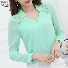 3cc388378c125 New 2016 Spring Women s Profession Long sleeved Solid Chiffon Blouse Shirts  Women Plus Size Fashion Casual Women Clothing 860-in Blouses   Shirts from  ...