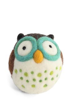 Wool You Be My Friend DIY Owl Kit. Next time youre cooped up on a rainy day or long road trip, pass the time by creating your own plush owl pal with this charming craft kit! #brown #modcloth