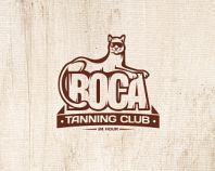 Boca Tanning Club - Vintage Badge Logo - logopond.com