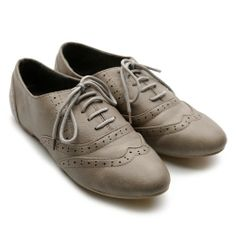Amazon.com: Ollio Women's Classic Dress Oxfords Low Flats Heels Lace Up Multi-Color Shoes: Shoes $17.99!!!