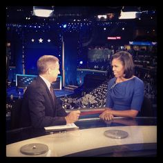 Brian Williams one-on-one with First Lady Michelle Obama. Interview airs tonight on NBC Nightly News #NBCPolitics