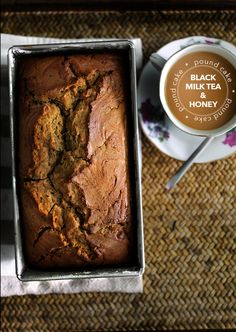 black milk tea & honey pound cake