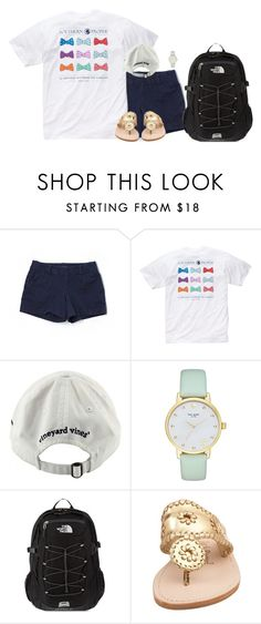 """""""I need new music. Any suggestions?"""" by hannahcantrel ❤ liked on Polyvore featuring Lilly Pulitzer, Southern Proper, Vineyard Vines, Kate Spade, The North Face and Jack Rogers"""