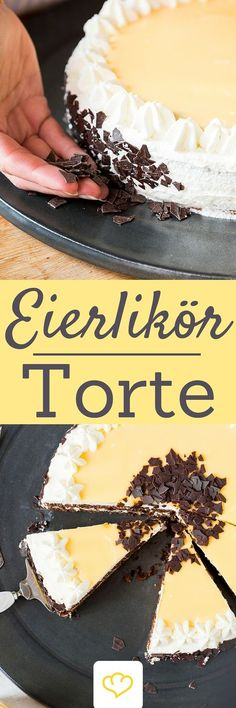 No Easter Sunday without Eierlikörtorte. Such an egg liqueur can be … – Backen – Cake Baking Recipes, Cake Recipes, Egg Pie, German Baking, German Cake, Best Chocolate Cake, Liqueur, Breakfast Dessert, Cakes And More