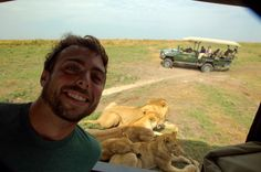 There was one instance when we were out with the lions and they sat next to our truck and used it as shade. They were literally three feet away from us.   Reminder: Why Killing A Lion Is The Most Cowardly Thing You Can Do