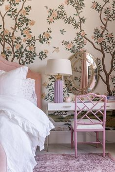 Alice Lane Home Collection is a full-service interior design firm and home furnishings boutique. We offer the best furniture for your home decor. Rose Bedroom, Bedroom Decor, Home Interior, Interior Design, Alice Lane Home, Le Far West, Little Girl Rooms, Beautiful Bedrooms, New Room