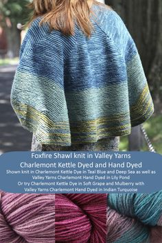 Valley Yarns Foxfire Shawl and additional color options