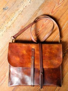 These retro handmade leather goods have older --abk leather ...