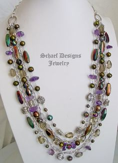 Schaef Designs Artisan handcrafted gemstone, pearl, figaro chain jewelry | New Mexico