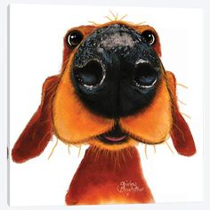 Nosey Nando Canvas Art Print by Shirley Macarthur Chien Jack Russel, Dachshund Art, Daschund, Dog Illustration, Dog Paintings, Dog Photography, Whimsical Art, Happy Dogs, Dog Art