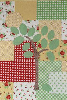 Tree appliqué in Sew Cherry