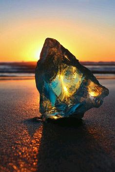 Sunset through sea glass