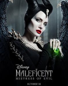"""Walt Disney Studios on Instagram: """"Swipe through to take a closer look at the new #Maleficent: Mistress of Evil poster. See the film in theaters October 18!"""""""