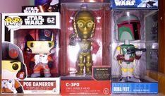 Vinyl Bobble-head #C_3PO, #PoDameron pop, #BobbaFett