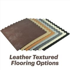 Leather textured floor mats provide a durable and stain-resistant flooring solution that is suitable for areas of your home, business, garage, or automotive setting. The best leather floor mats offer superior slip resistance and the ability to endure heavy loads. Plastic Mat, Industrial Flooring, Basement Flooring, Leather Texture, Flooring Options, Floor Mats, Real Leather, Tiles, Garage