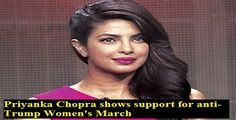 Priyanka Chopra shows support for anti-Trump Women's March
