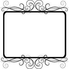 Flowers clip art black and white border home redesign clip arts vector border design google search mightylinksfo