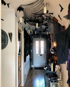 Vintage Halloween cortina de ducha Raven Owl araña