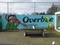 Pingpongtafel Afgerond Groen bij Tennisvereniging Overbos in Warmond