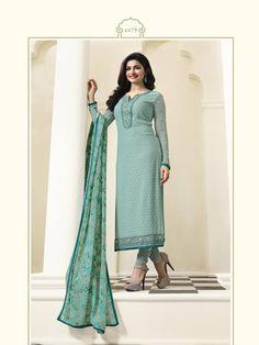 Indian Bridal Lehenga, Indian Gowns, Indian Suits, Pakistani Dresses, Party Wear Long Gowns, Prachi Desai, Mint Blue, Salwar Kameez, Churidar