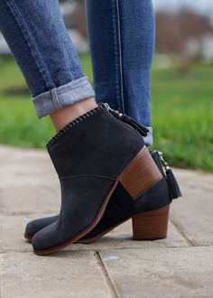 Toms Leila Booties are so cute and comfy and easy to wear!
