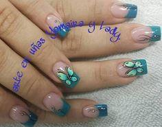Resultado de imagen para como hacer mariposas con pincel Butterfly Nail Designs, Cute Nail Designs, Hair Designs, Fitness Video, Artificial Nails, Accent Nails, Nail Art Galleries, My Beauty, Beauty Nails