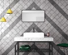 Vestige Cool Grey, Hat Black 13,2x13,2 - Bath