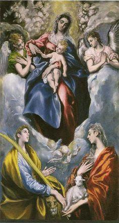 BenaventeArte: Œuvres de El Greco - La Vierge Marie avec Ste Martina et Ste Agnès -