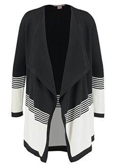 Anna Field Cardigan da donna in maglia con fine motivo a righe Nero-Bianco  44 898babd90de