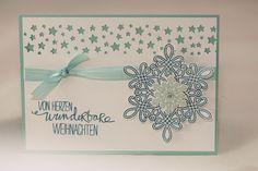 """Weihnachtskarte """"Schneeflocke"""" - Stampin Up! - Flockenzauber - Willkommen, Weihnacht! - Aelidan bei DaWanda"""