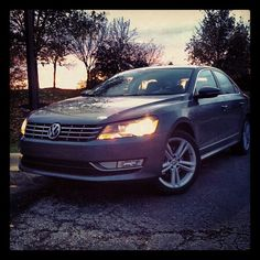 Sun sets on the 2012 Volkswagen Passat TDI.