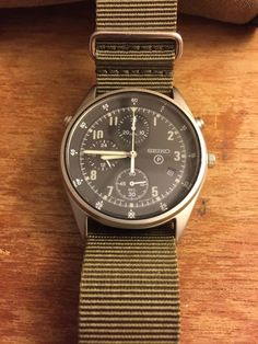 Seiko Gen 2 7T27-7A28 military style chronograph in Jewelry & Watches, Watches, Wristwatches | eBay