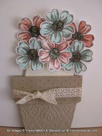Hello Stampers   Well here is the video that many been waiting on. The Flower Pot card using the Flower Shop. The bottom one in the Caj...