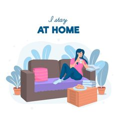 Stay at home concept Free Vector Graphic Design Templates, Modern Graphic Design, Good Books, Books To Read, The Guernsey Literary, Purple Hibiscus, Beatles Songs, Stay At Home, Infographic Templates
